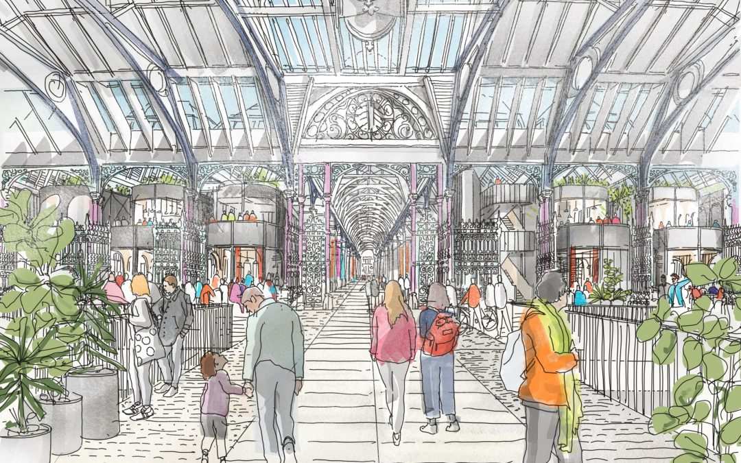 First concept designs for Smithfield East & West Market buildings and Rotunda unveiled